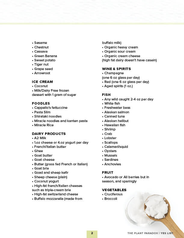 Health Food List Pdf