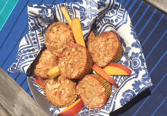 Dr. Gundry's Lectin-Free Peach Cobbler Muffins